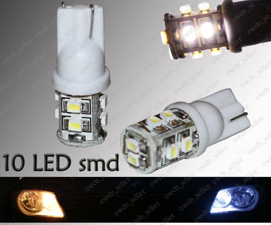 Feux de position Peugeot 206 207 307 308 407 2 ampoules à LED BLEU Veilleuses