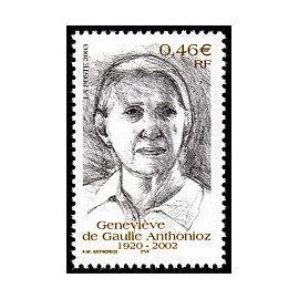 Timbre de France 2003. Hommage à genevieve de gaulle anthonioz. n° yvert 3544. neuf **