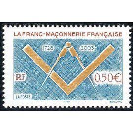 Timbre de France 2003. 275è anniversaire de la franc-maçonnerie française. n° yvert 3581. neuf **