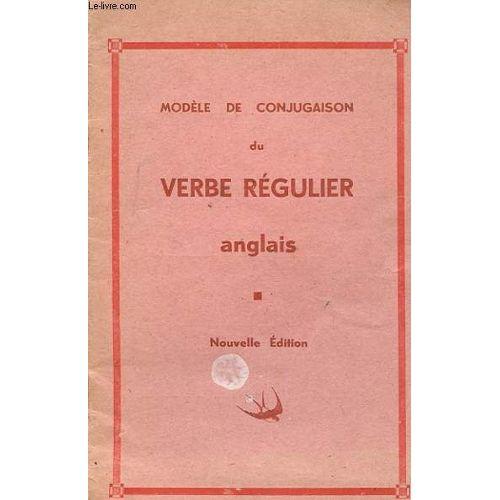 Modele De Conjugaison Du Verbe Regulier Anglais Rakuten
