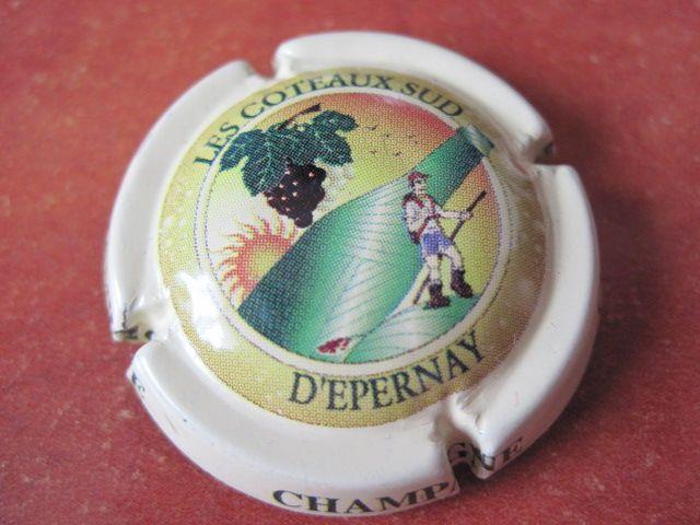 Série  13 capsules de champagne  Les COTEAUX SUD D/'EPERNAY