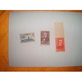 LOT DE 3 TIMBRES NEUFS FRANCE ANNEE 1938/1939 N° YT 378 / 425 / 436