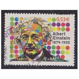 Timbre N°3779 Y&T 0,53 E Multicolore Albert Einstein