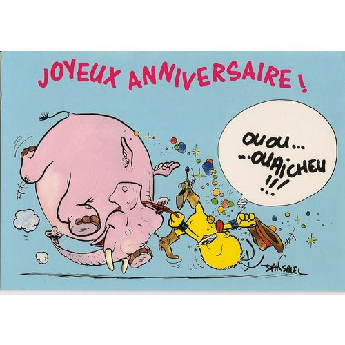 Carte Postale Le Piaf Joyeux Anniversaire Rakuten