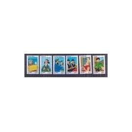 YVert Tellier FR 2007 N°4051 a 4056 - Les voyages de Tintin