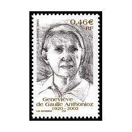 YVert Tellier FR 2003 N°3544 - Genevieve de Gaulle-Anthnioz