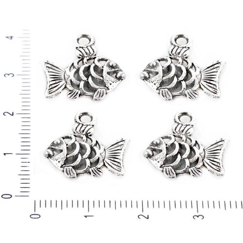 8pcs BOOK Charms Silver tone vintage Charms pendant 22x26mm