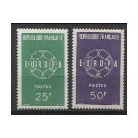FRANCE ANNée 1959 N° 1218 1219 NEUFS europa