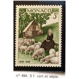 timbre monaco neuf n 494 3f