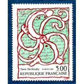 FRANCE année 1985 N° 2382 NEUF** Série artistique  : oeuvre de pierre alechinsky