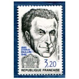 FRANCE ANNée 1985 N° 2390 NEUF** HOMMAGE A CHARLES DULLIN