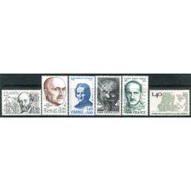 FRANCE année 1980  N° 2095 2096 2097 2098 2099 2100 NEUFS** PERSONNAGES Célèbres