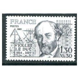 FRANCE année 1980 N° 2095 NEUF** VIOLLET LE DUC