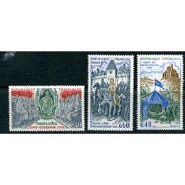 FRANCE ANNée 1968 N° 1577 1578 1579 NEUFS** GRANDS NOMS DE L