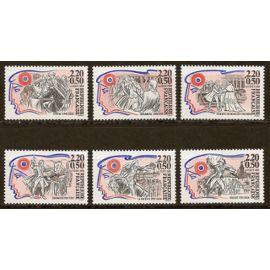 Série Personnages célèbres de la révolution YT N°2564-2565-2566-2567-2568-2569
