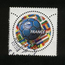 Timbre Oblitéré Used Stamp Coupe du Monde de Football 1998 FRANCE 3,00F Y&T 3139