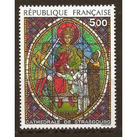 Vitrail de la cathédrale de Strasbourg YT N°2363