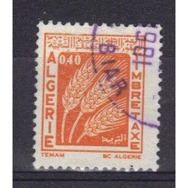 ALGERIE 1972 : Timbre-taxe 40 c.orange oblitéré