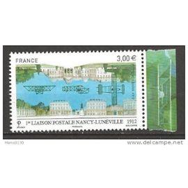 Poste Aérienne, liaison Postale Nancy-Lunéville, 2012, le timbre avec marge