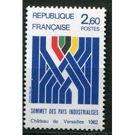FRANCE année 1982 N° 2214 NEUF** SOMMET DES PAYS INDUSTRIALISéS CHATEAU DE VERSAILLES  / SYNTèse graphique