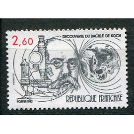 FRANCE ANNée 1982 N° 2246 NEUF** CENTENAIRE DE LA Découverte du bacille de la tuberculose par robert koch