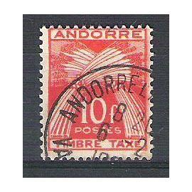 Andorre, 1946-1950, Timbres-Taxe, Type Gerbes (Légende Timbre-Taxe), N°38, Oblitéré.