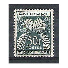 Andorre, 1946-1950, Timbres-Taxe, Type Gerbes (Légende Timbre-Taxe), N°40, Oblitéré.