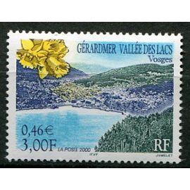 FRANCE ANNée 2000 N° 3311 NEUF**série touristique gérardmer vallée des lacs (voges)