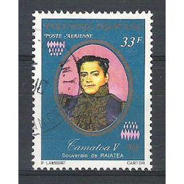 polynésie française, 1977, poste aérienne, anciens souverains (tamatoa v de raiatea), n°118, oblitéré.