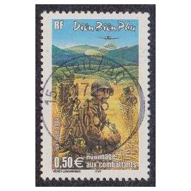 Timbre N°3667 Y&T 0,50 ¿ multicolore diên biên phu hommage aux combattants