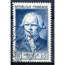 FRANCE année 1953 N° 948 OBL célébrité du 12 ème au 20 ème siècle gaspard monge comte de peluse