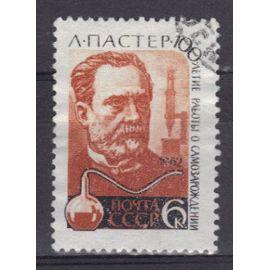 RUSSIE 1962 : Centenaire de la découverte des microbes et de leur rôle pathogène par Louis Pasteur - Timbre oblitéré