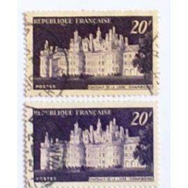 variété france oblitéré y&t 924 nuance foncé et clair 1952