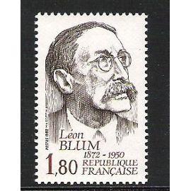 Hommage à Léon Blum, écrivain & homme politique Année, ,émis en 1982 N° 2251 Yert Et Tellier