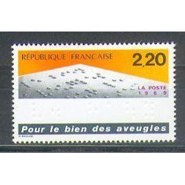 France 1989 N° 2562 Neuf ** POUR LE BIEN DES AVEUGLES