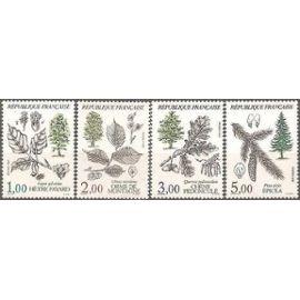 France 1985 SERIE 2384 à 2387 NEUF XX - ARBRES DE FRANCE