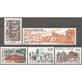 France SERIE TOURISTIQUE - 1986 n° 2401 à 2405 - TIMBRES NEUFS**