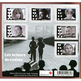 FRANCE ANNée 2012 BLOC FEUILLET NEUF** CROIX ROUGE LES ACTEURS DU CINéma  F 4690