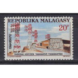 MADAGASCAR 1963 : Faisceau hertzien - Timbre NEUF *