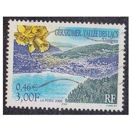Timbre N°3311 Y&T 3,00 F multicolore série touristique gérardmer vallée des lacs (vosges)