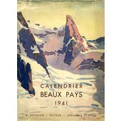 Calendrier 1941.Calendrier Beaux Pays 1941