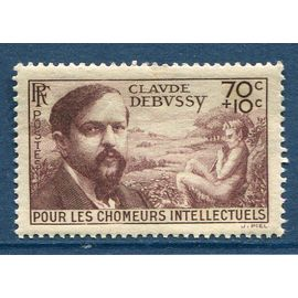 FRANCE année 1939 N° 437 NEUF CLAUDE DEBUSSY POURLES CHOMEURS INTELECTUELS