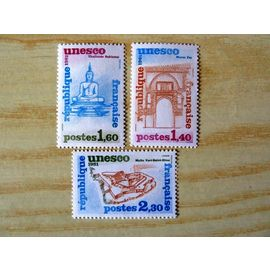 Serie De 3 Timbres Neufs - Unesco - 1981 - 68 a 70 - Patrimoine Universel - Sites Classes A Proteger