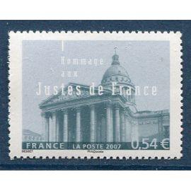 FRANCE année 2007 N° 4000 NEUF** HOMMAGE AUX JUSTES DE FRANCE