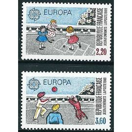 france 1989 - paire europa 2584 & 2585 : jardins d