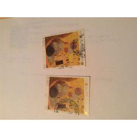 timbre 3461, un lot de deux exemplaires oblitérés