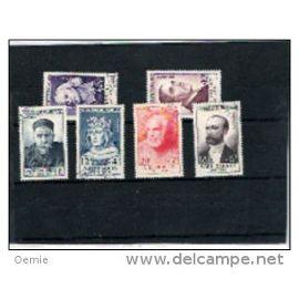 personnages celebres  timbres de france  oblitéré serie    989 à 994