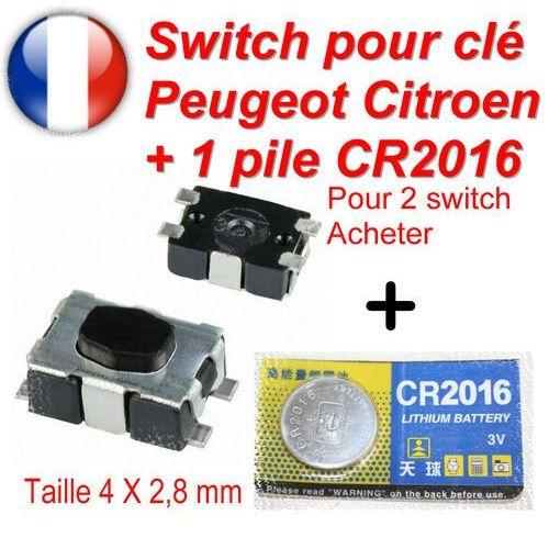 Switch bouton de clé pliante télécommande plip Peugeot Citroen clef repliable