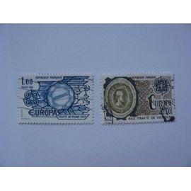 Paire de timbres EUROPA N° 2207-2208 de 1982 oblitéré
