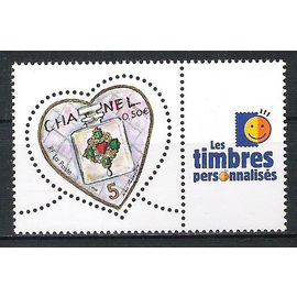 france, 2004, timbres personnalisés, saint-valentin (coeurs du couturier karl lagerfeld), N°3632A, neuf.